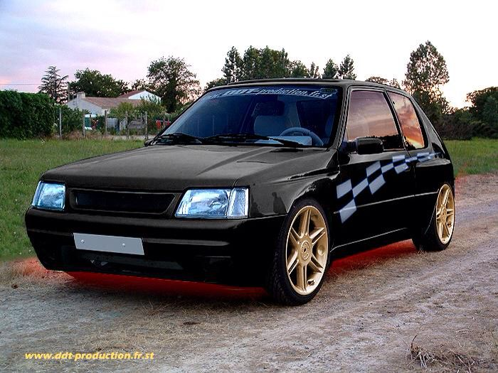 tuning 205 gti french cars pinterest. Black Bedroom Furniture Sets. Home Design Ideas