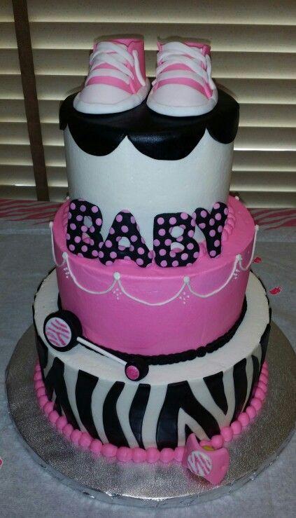Zebra Print Baby Shower Cake | Baby shower cakes, Printed ...