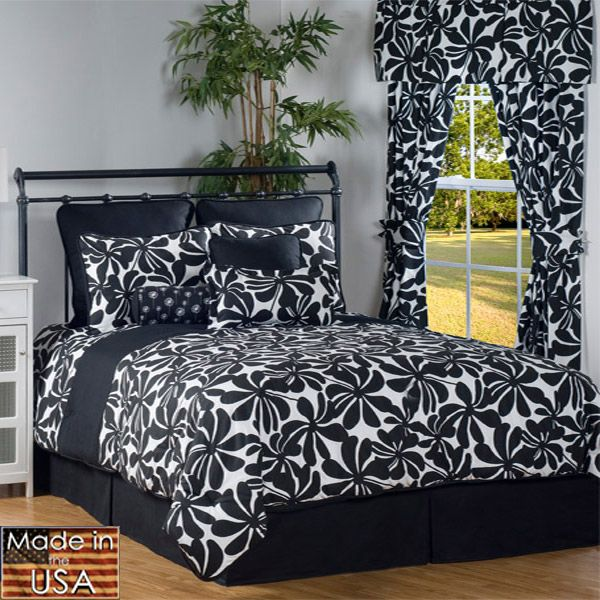 Twirl Twin Xl Black And White Comforter Set Comforter Sets Twin