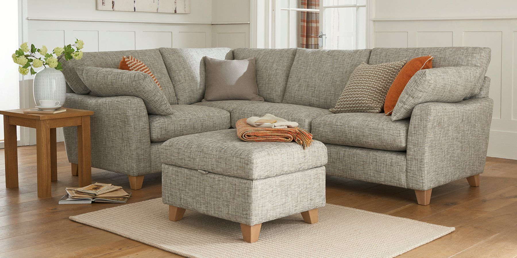 Buy Alexis Corner Sofa Left Hand 4 Seats Textured Weave Mid French Grey Low Tapered Light From The Next Uk On With Images Corner Sofa Home Furniture Leather Shag Rug