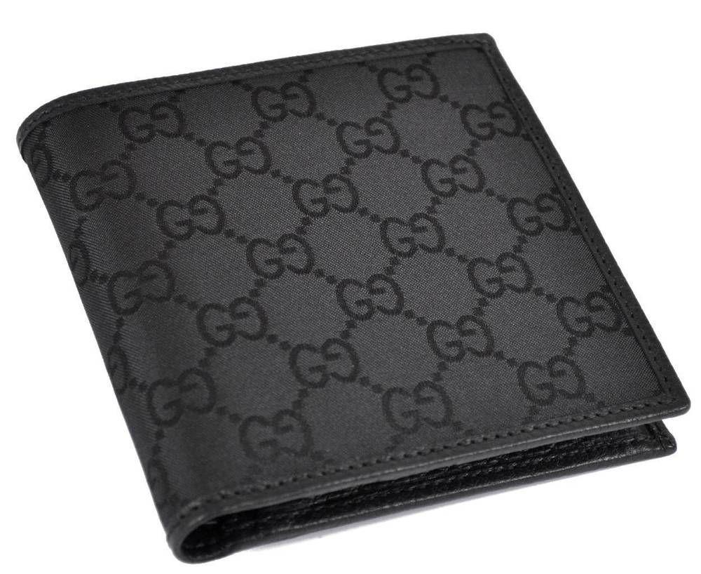 3979a12ba1ab15 NEW GUCCI Men's 150413 Black Canvas GG Guccissima Coin Pocket Bifold Wallet  #Gucci #Bifold