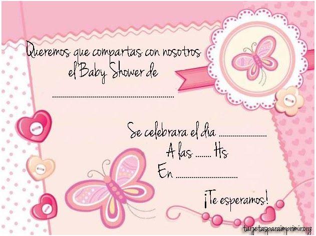 Invitaciones Para Baby Shower Editables Y Recortables