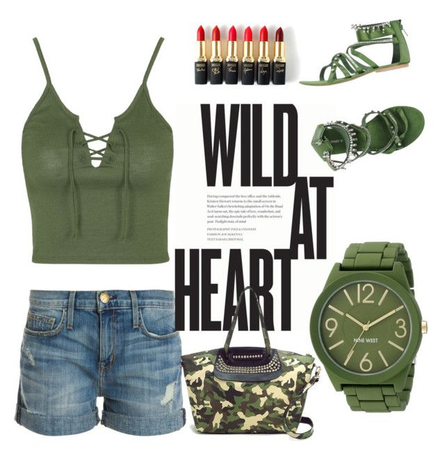 """wild at heart"" by jjbear on Polyvore featuring Current/Elliott, Topshop, L'Oréal Paris, MET, Nine West, women's clothing, women's fashion, women, female and woman"