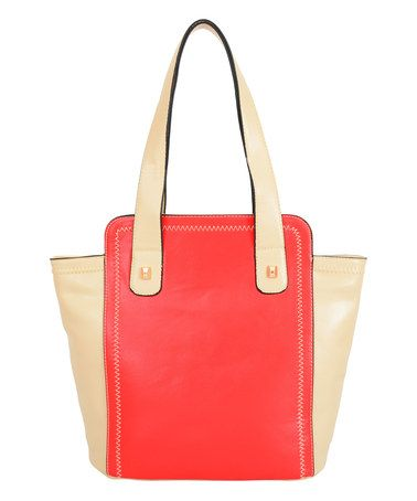 Loving this Red Bicolor Tokyo Tote on #zulily! #zulilyfinds