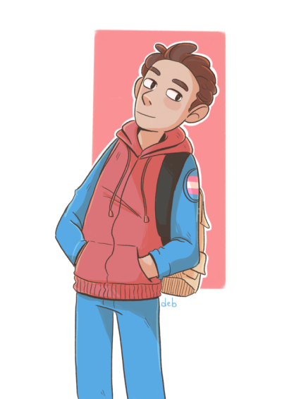 Trans peter parker fanart | Tumblr | Marvel | Avengers fan