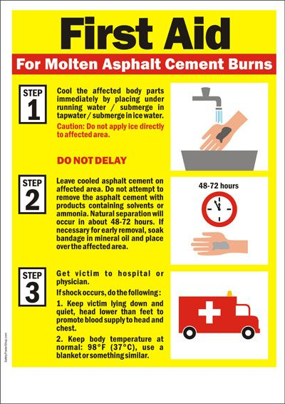 First Aid for asphalt burn | First Aid | Pinterest
