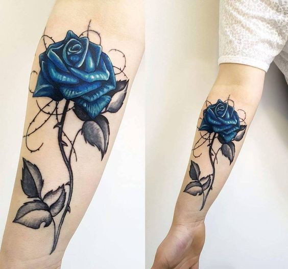 33 Small Meaningful Wrist Tattoo Ideas Page 36 Of 40 In 2020 Blue Rose Tattoos Tattoos For Women