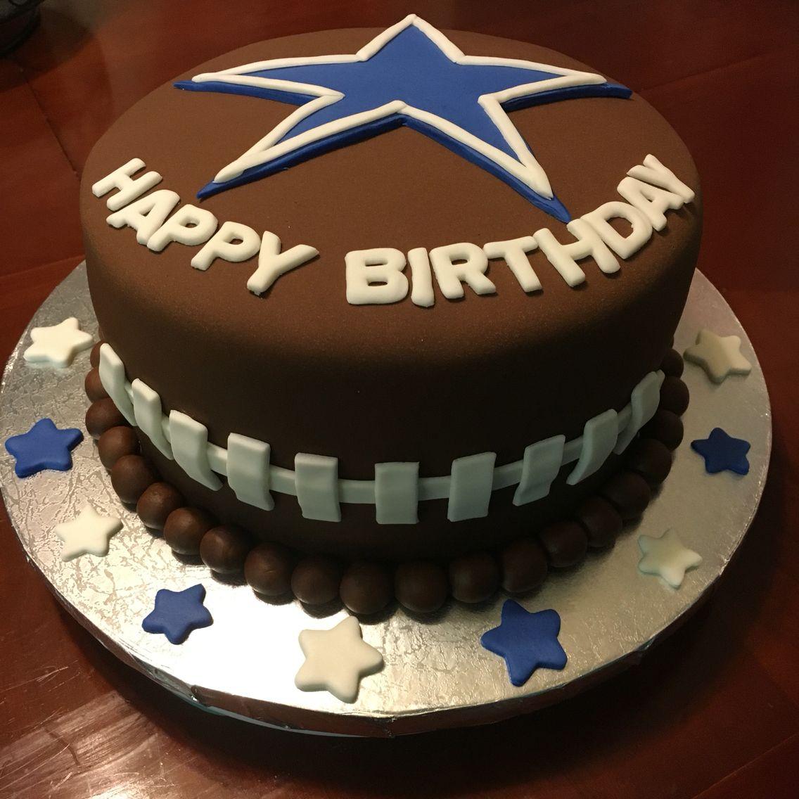 Dallas Cowboys Cake With Images Dallas Cowboys Birthday Cake