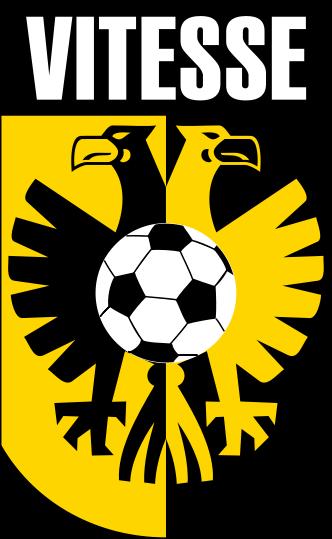File Vitesse Logo Svg Wikipedia The Free Encyclopedia Football Team Logos Football Logo Design Football Logo