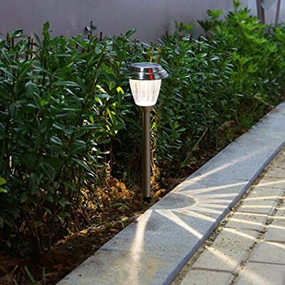Voona solar led outdoor lights stainless steel pathway landscape voona solar led outdoor lights stainless steel pathway landscape lights 8 pack aloadofball Images