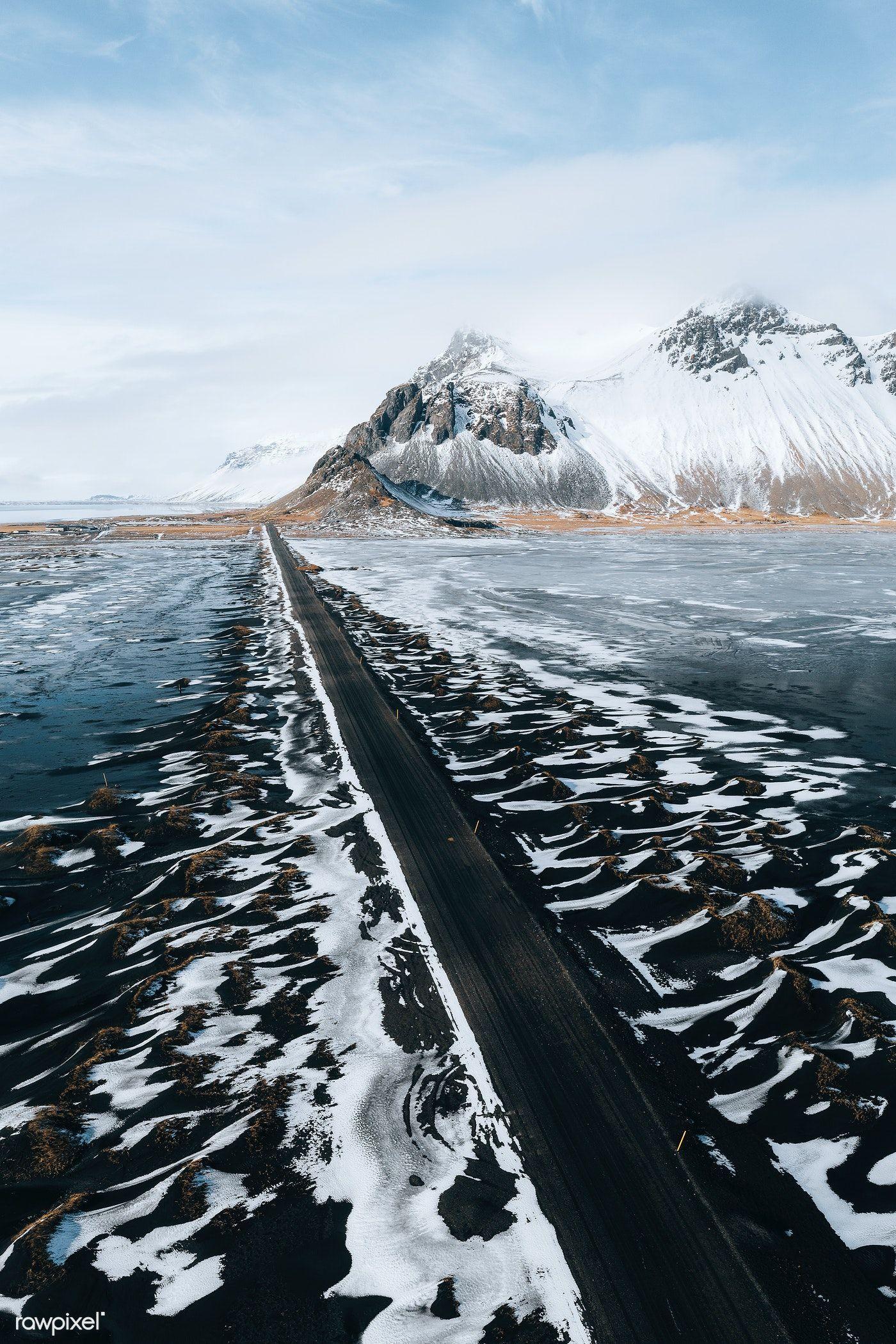 Download premium image of road through stokksnes on
