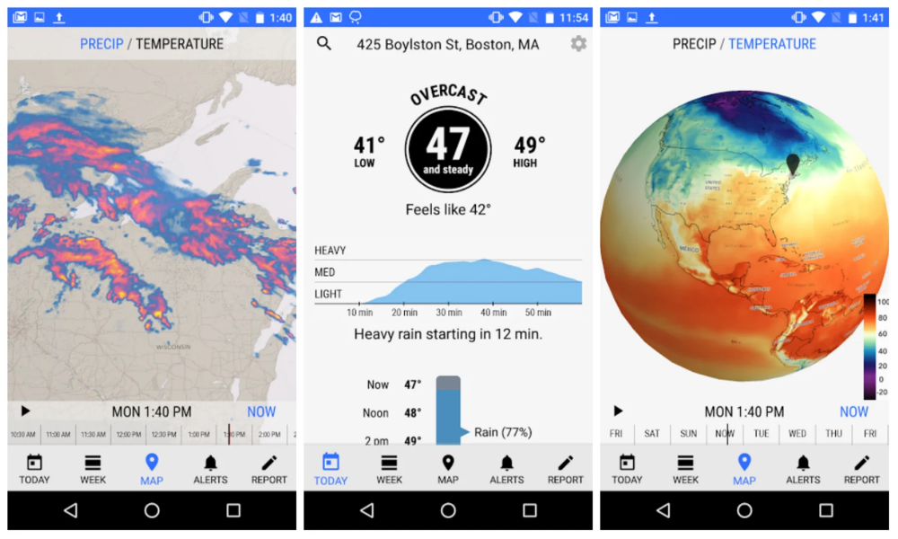 The Excellent Dark Sky Weather App Finally Makes Its Way To Android Personal Weather Station Weather Data Weather Broadcast