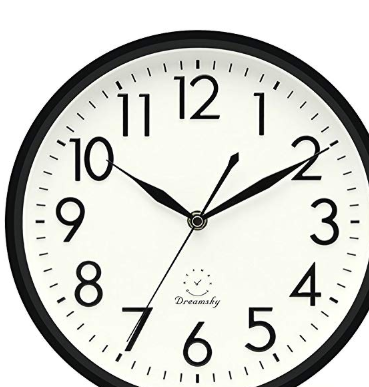 Dreamsky 10 Inches Silent Non Ticking Quartz Wall Clock Decorative Indoor Kitchen Clock Display Wall Clock Clock Kitchen Clocks