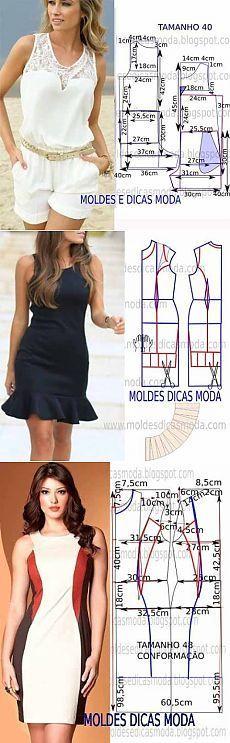Patrones simples de la ropa de las mujeres (de Internet) / Otros costura / coser: #diyclothes
