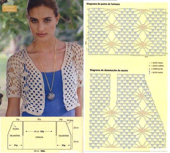 boleros-crochet (17) | documentos | Pinterest | Kleidung