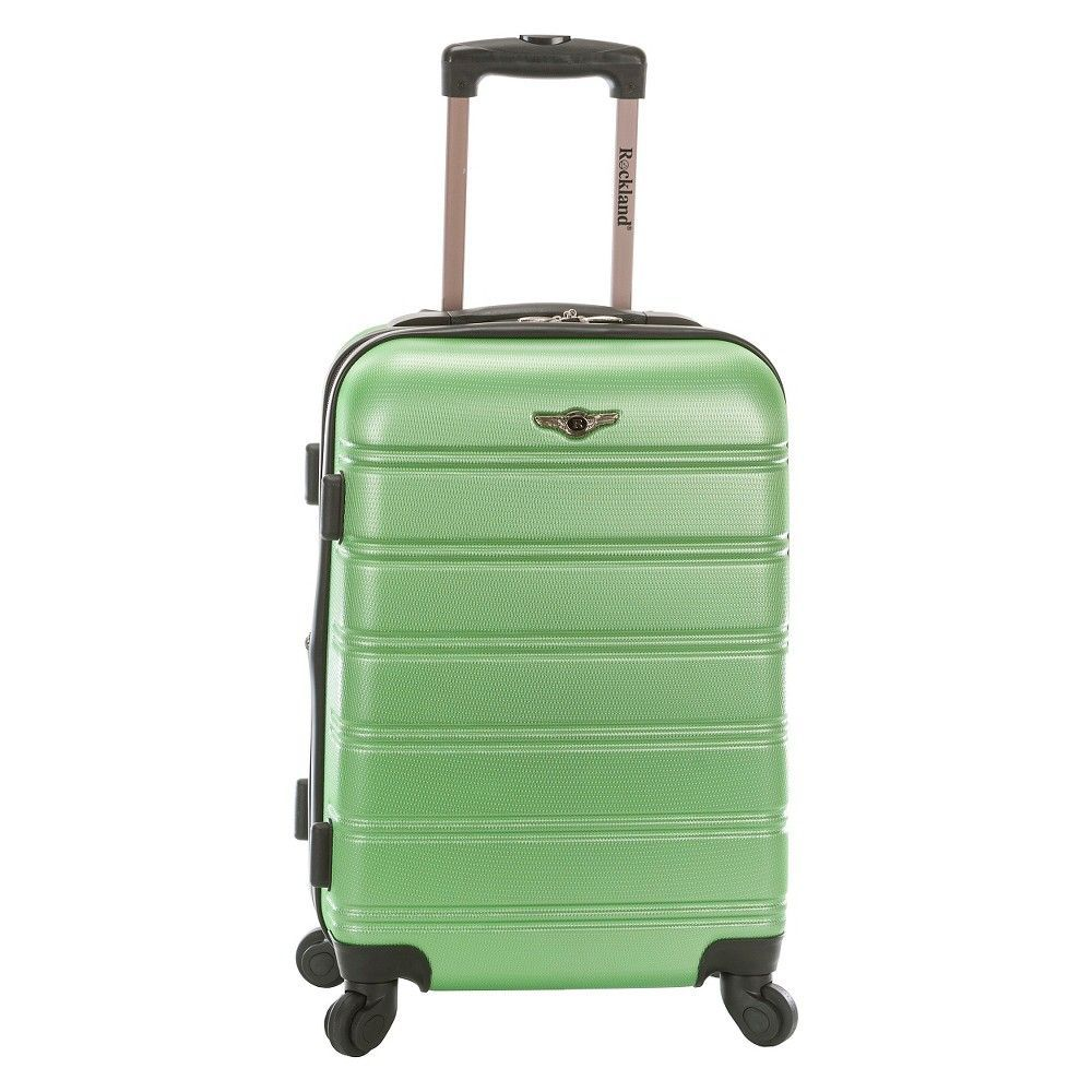 Rockland Melbourne Expandable Abs Carry On Luggage - Green (20)