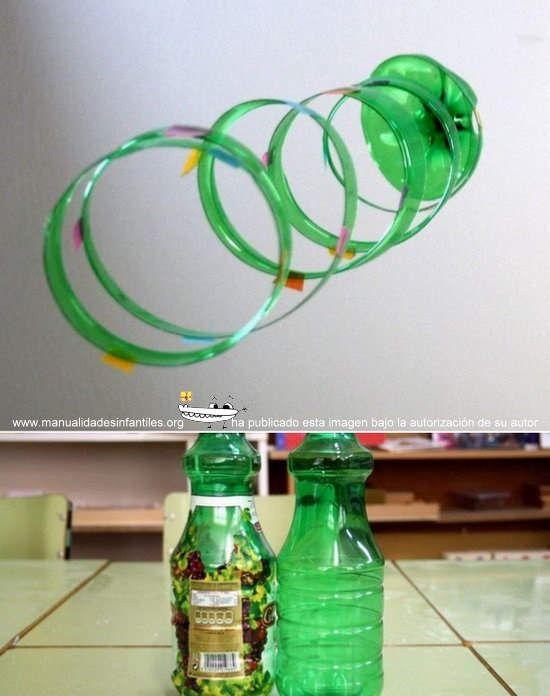 Adornos de navidad reciclados con botellas de pl stico - Manualidades con vasos de plastico ...