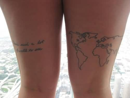 World map tattoo foot sk p google tatts pinterest tattoo tattoo world map gumiabroncs Choice Image