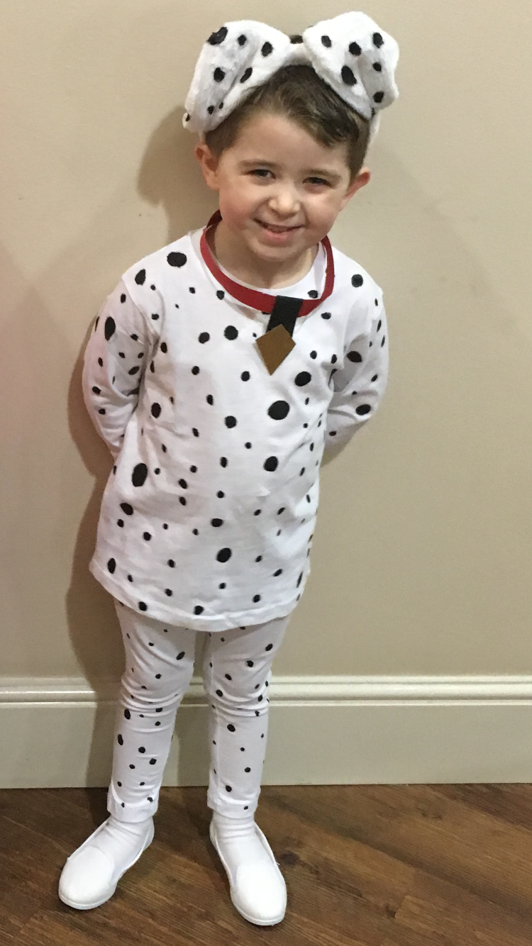 Dalmatian costume, Halloween, fancy dress, worldbook day