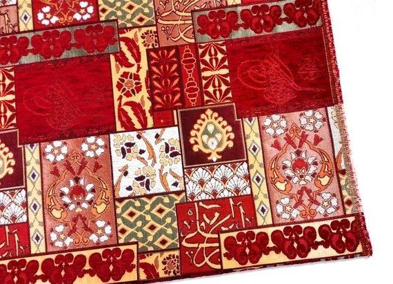 Jacquard Chenille Upholstery Fabric, Patchwork Design Fabric