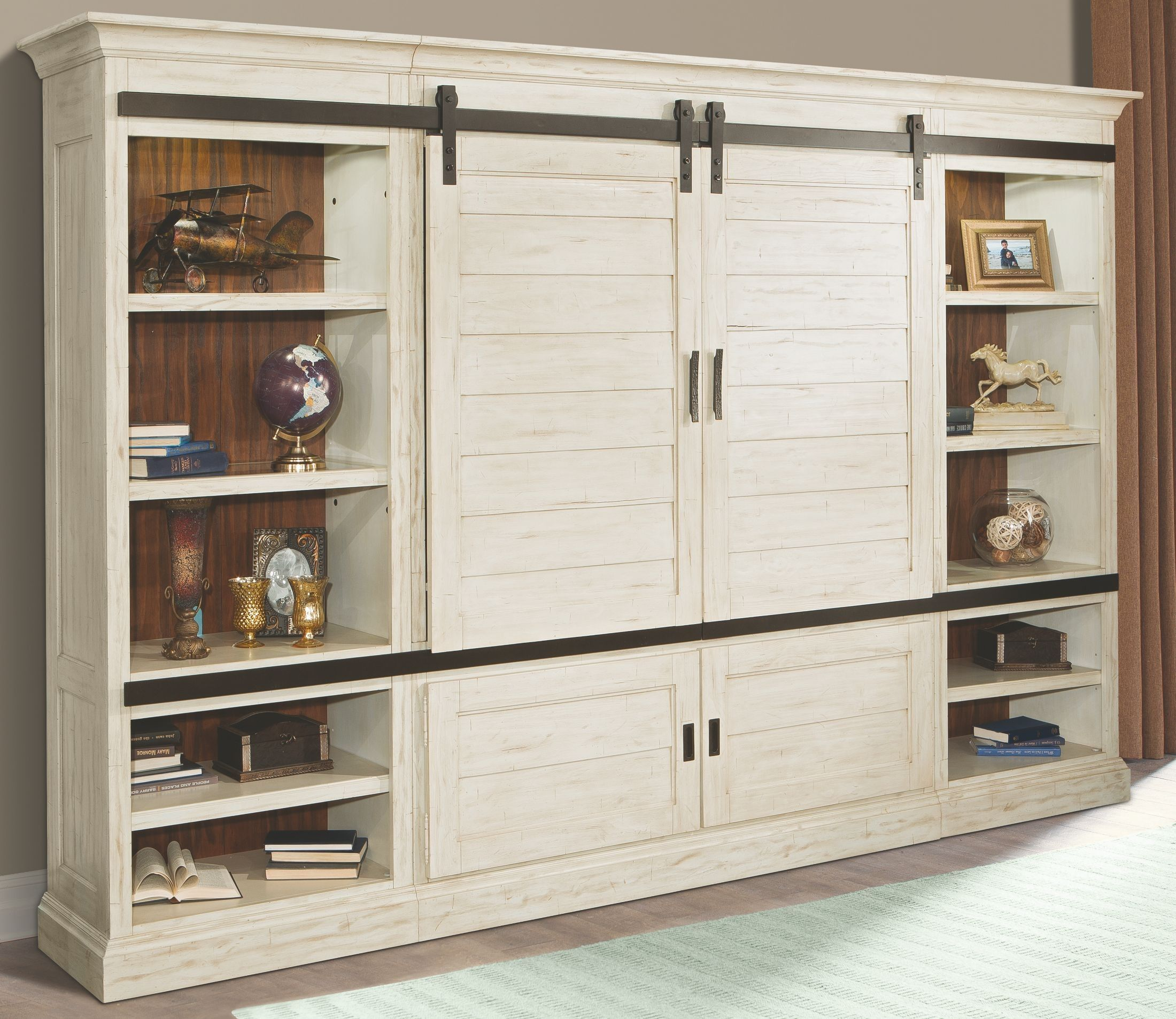 Both Charming And Sophisticated Our Chesapeake Entertainment Slider Combines Louvered Sh Entertainment Wall Entertainment Center Barn Door Entertainment Center