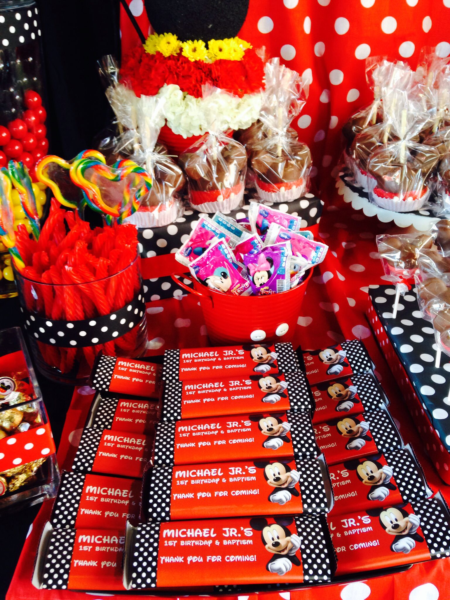 Mickey Mouse Birthday Party Theme Candy Buffet Minnie