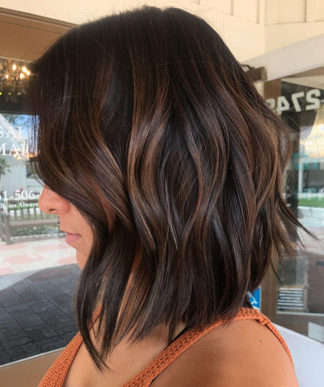 Subtle Brown Balayage Hair Short Hair Balayage Brown Hair With Highlights Hair Styles