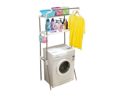 Washer Dryer Machine Storage Rack Laundry Room Organizer
