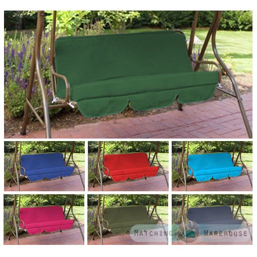 Replacement 2 Seater Swing Seat Canopy Cover and Cushions Set Garden Hammock
