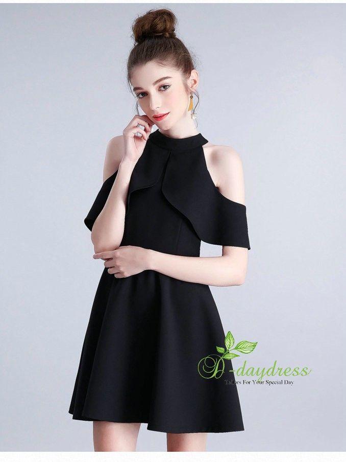 af82c843db4c F-daydress Halter Sample Sleeveless Spandex Short Mini Little Black Dress  ItemYHC0008F #sleeveless #spandex #halter #short #mini #littleblack # blackdress # ...