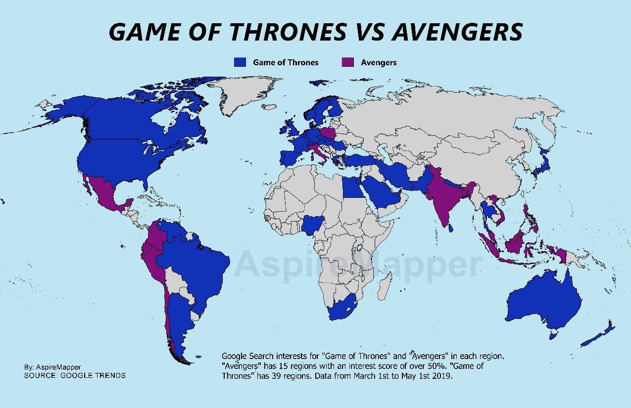 Game Of Thrones Vs Avengers Google Search By Aspiremapper
