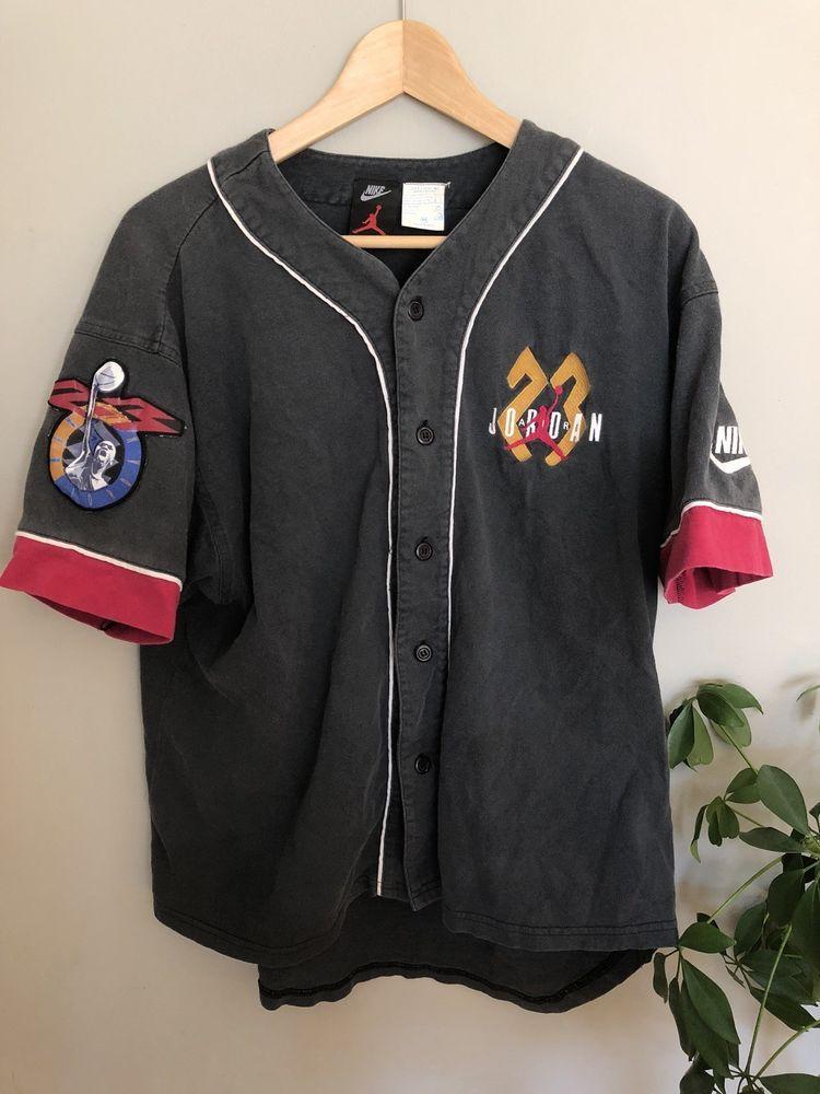 d9bcbd0dd4ef vintage jordan baseball jersey Vintage Nike ...