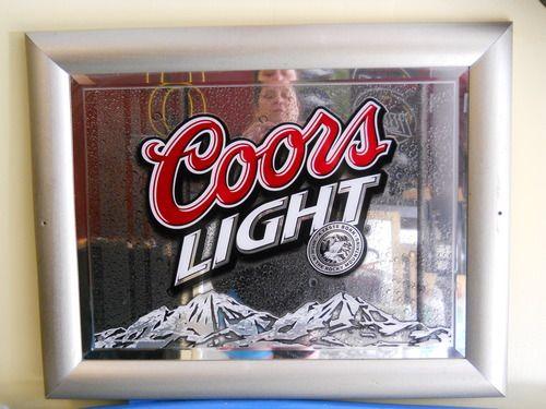 Coors light mirror 6900 chucker chubbs man cave essentials coors light mirror 6900 aloadofball Image collections