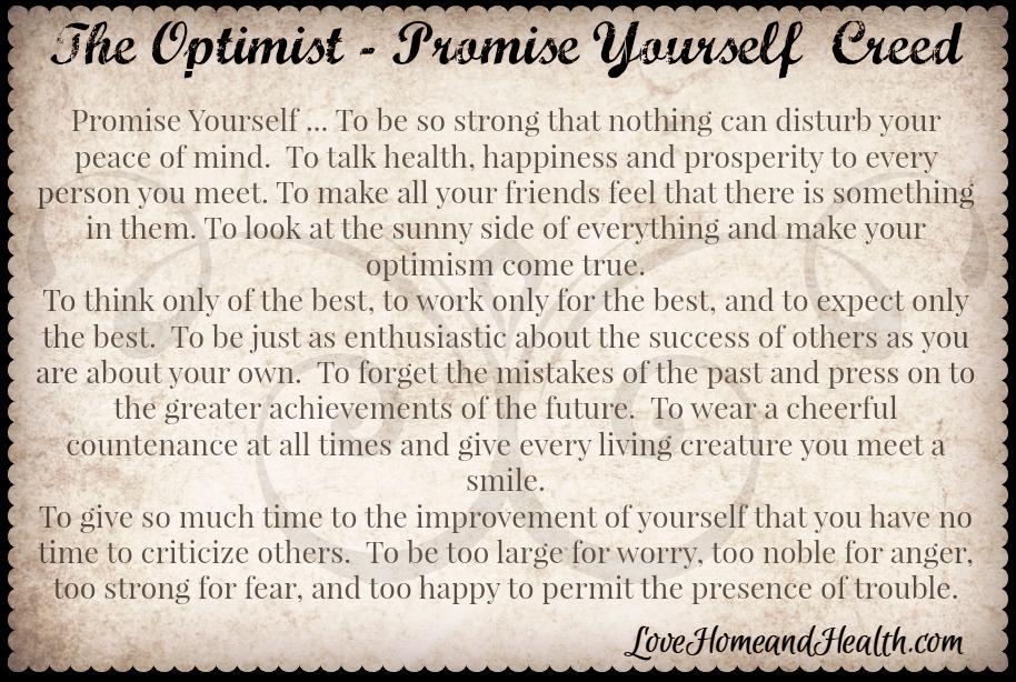 optimist creed poem