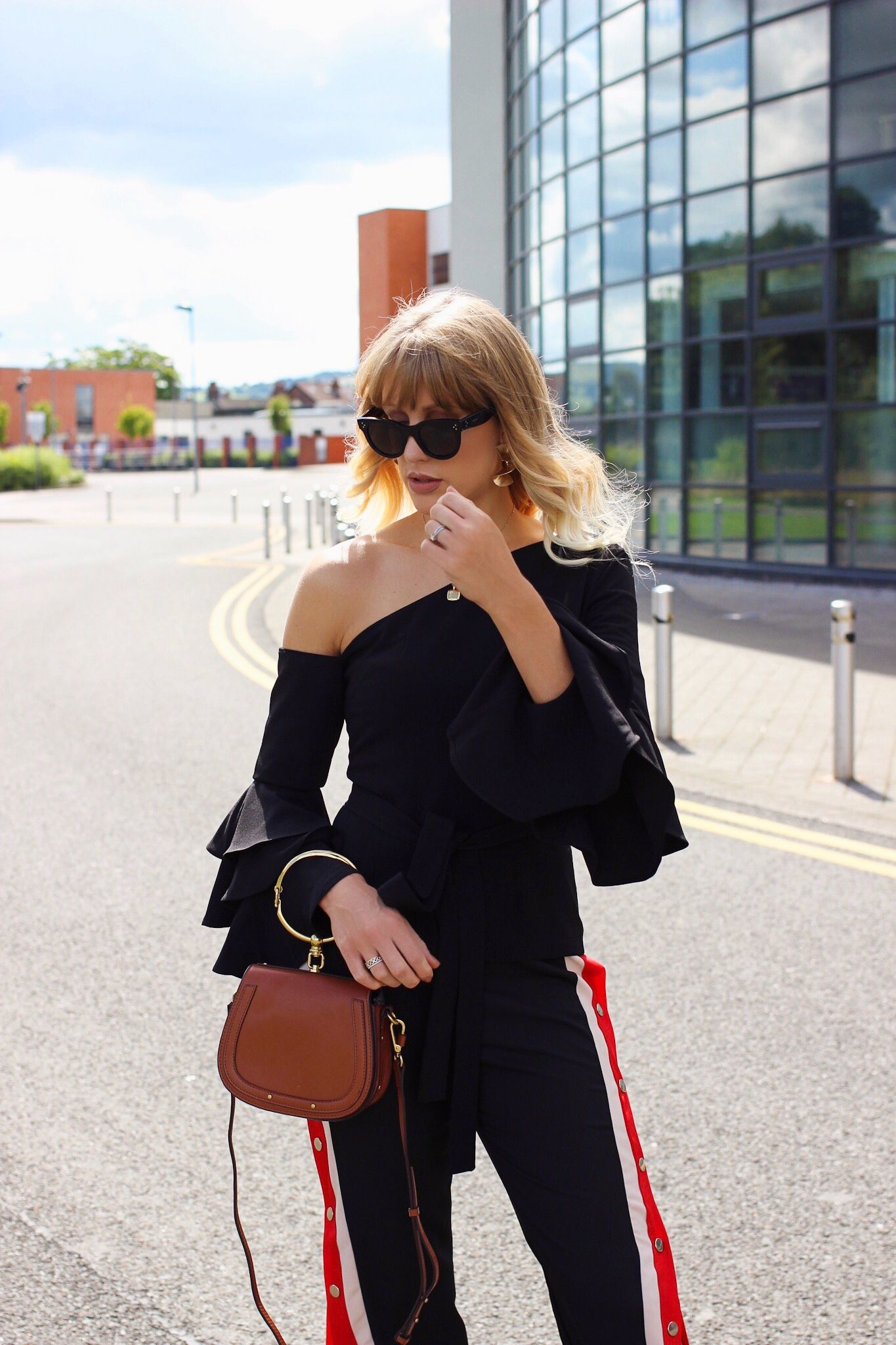 Celine sunglasses on fashion blogger with Chloe Nile bag dupe from Jessica  Buurman f7cc45872