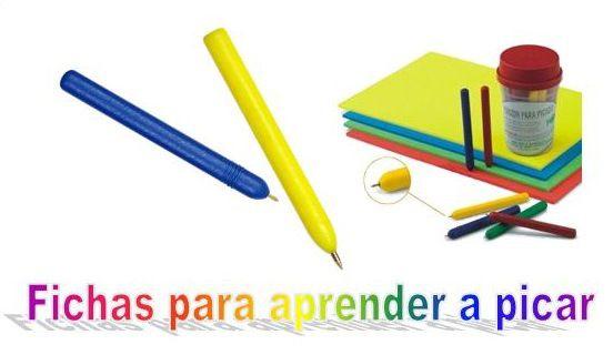 Aprendo a picar!. Fichas para aprender a picar | infantil | Pinterest