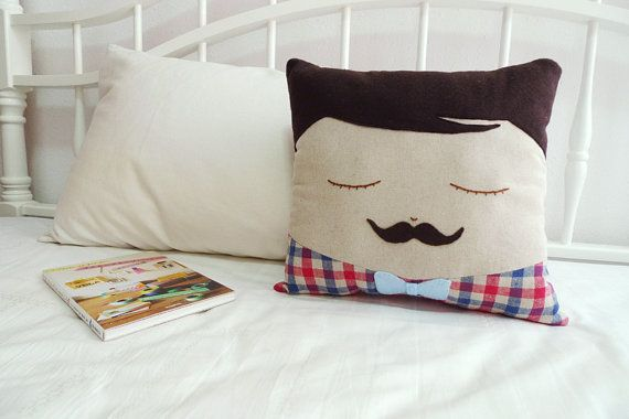 Moustache Man Cushion - Moustache George