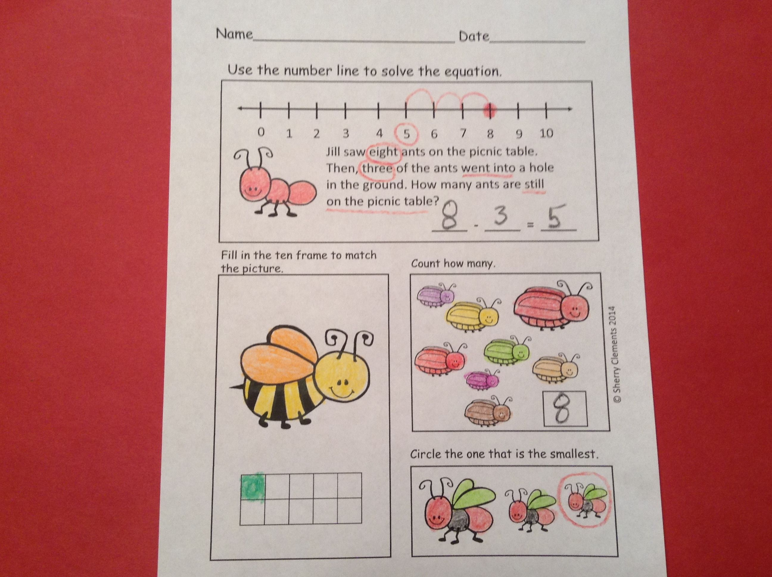 SAVE 18% with this BUNDLE!! Insect Bundle (184 Pages) (Literacy and Math Unit, Opinion Writing, Read and Writes, Emergent Readers, Addition and Subtraction Problems with Manipulatives) $
