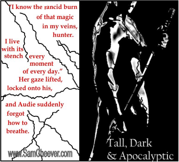 Tall, Dark & Apocalyptic is part of a multi-author box set featuring 10 of the sexiest alpha heroes you're ever gonna find in romance fiction. The collection will release on March 8th, 2014. Stay tuned!