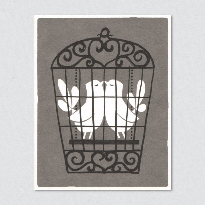 lisa jones studio recycled greeting card, in captivity