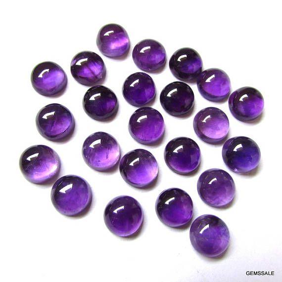 10 Pieces 12mm Amethyst Cabochon Round Gemstone Natural Amethyst Round Cabochon Gemstone Purple Amethyst Cabochon Round Loose Gemstone Gemssale Purple Am