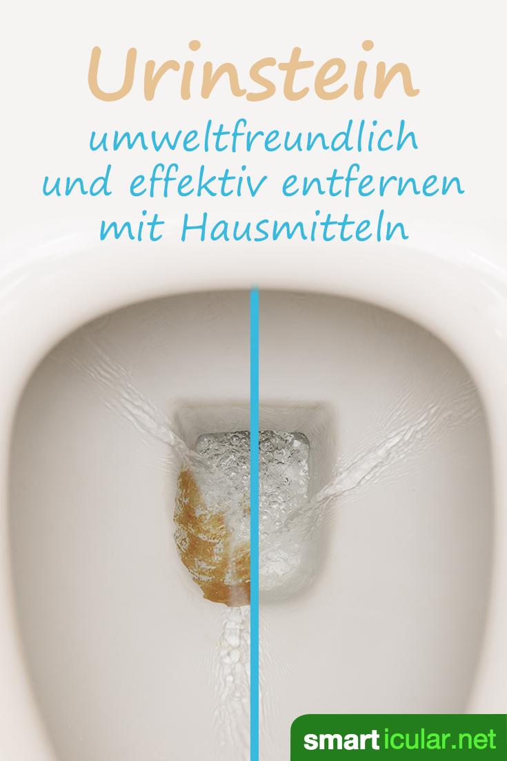 Urinstein effektiv entfernen mit Hausmitteln - so bleibt das WC sauber