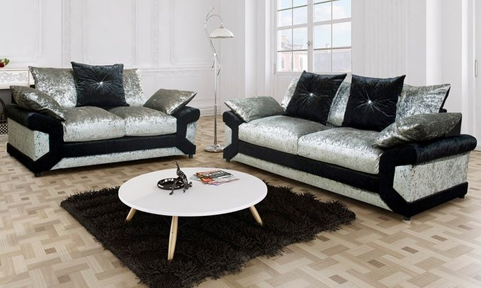 Leather Sleeper Sofa Groupon Goods Global GmbH Lucia Scatter Back Sofa Set from With Free Delivery