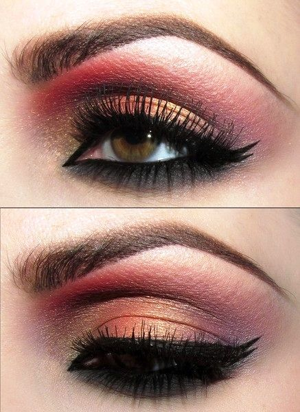 Indian Bridal inspired gold and red eye makeup | AmazingMakeups.com