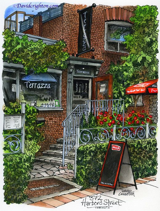 Terrazza Restaurant Toronto By David Crighton Art My City