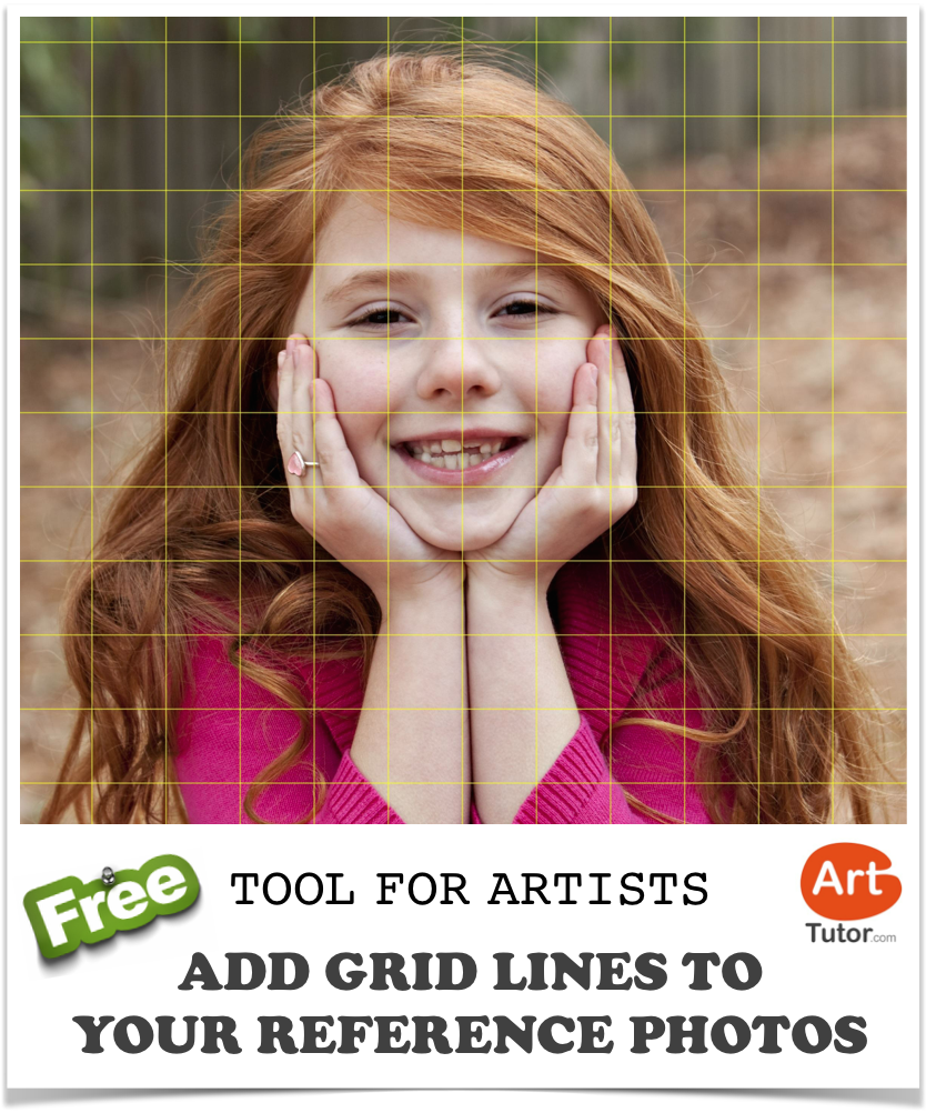 Save Time Drawing Grid Lines On Your Reference Photos Our Free Online Tool Does It For You Http Www G Portrait Art Lessons Middle School Art Lesson Plans