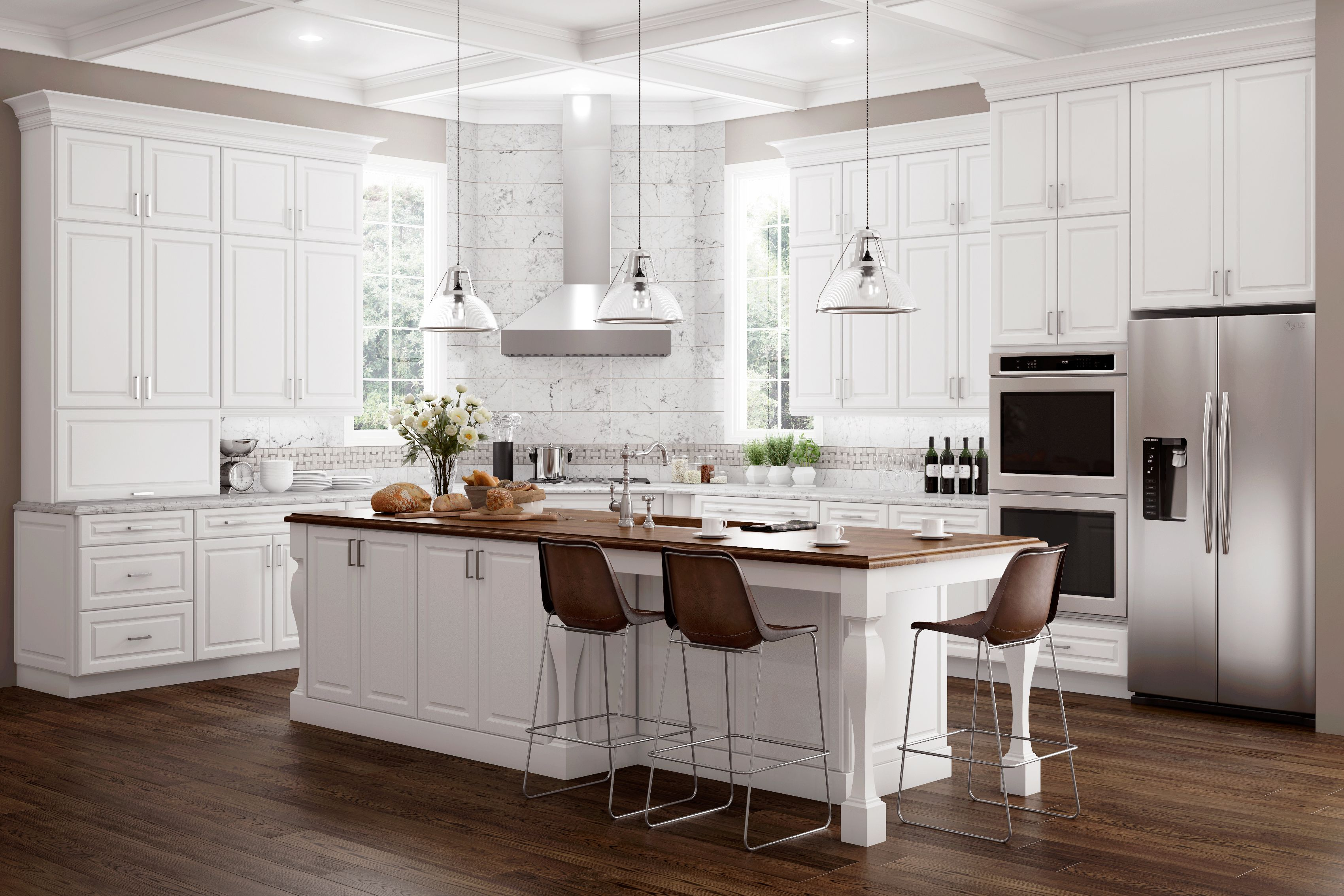 Hamilton Thermofoil White Simple kitchen