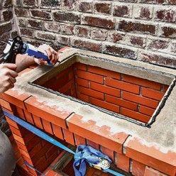 Réaliser un barbecue prêt à assembler en briques réfractaires   Carrelage extérieur, Brique ...
