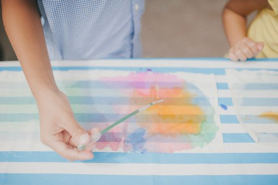 DIY watercolor project for kids | Wedding & Party Ideas | 100 Layer Cake
