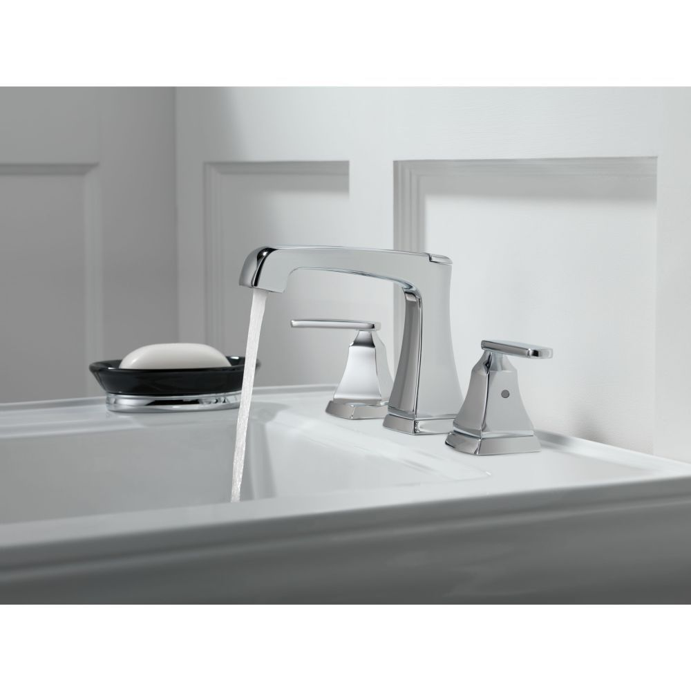 Delta Faucet 3564 Mpu Dst Ashlyn Polished Chrome Two Handle Widespread Bathroom Faucets Widespread Bathroom Faucet Delta Faucets Bathroom Faucets